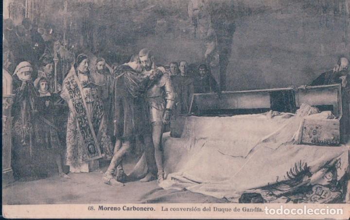 POSTAL MORENO CARBONERO - LA CONVERSION DEL DUQUE DE GANDIA 68 LACOSTE (Postales - Postales Temáticas - Arte)