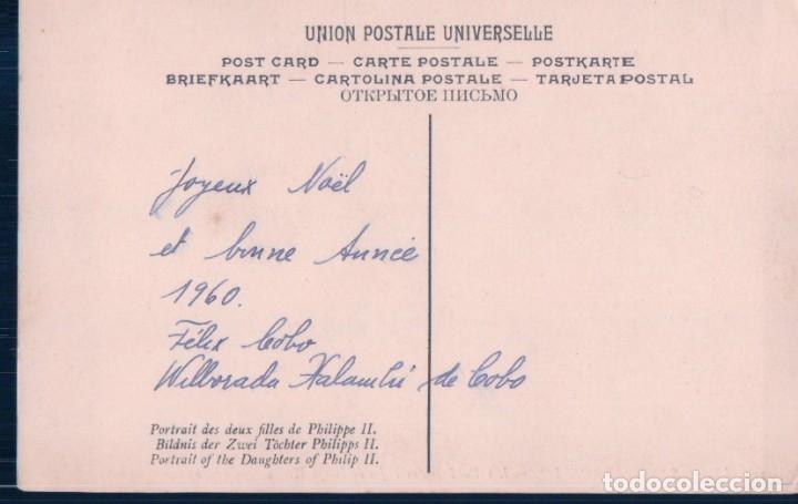 Postales: POSTAL SANCHEZ COELLO - LAS DOS INFANTAS HIJAS DE FELIPE II - MUSEO PRADO - 359 LL - Foto 2 - 179176461