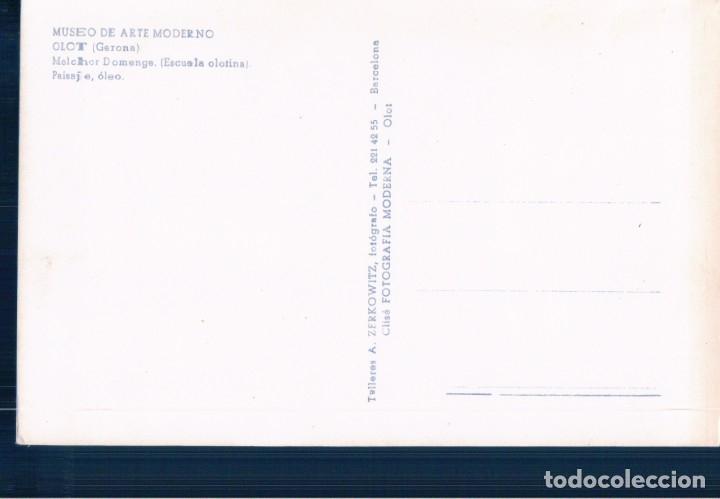 Postales: POSTAL MELCHOR DOMENGE - PAISAJE OLEO - MUSEO DE ARTE MODERNO OLOT - GERONA - ZERKOWITZ - Foto 2 - 179202506