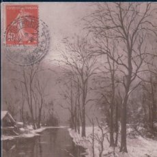 Postales: POSTAL SALON DE PARIS - R.WINTZ - MARTINEE BLANCHE - CIRCULADA. Lote 179254345