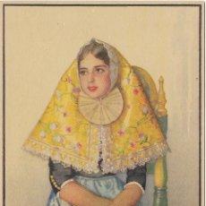 Postales: ERWIN HUBERT, MARGALIDA, EN TRAJE ANTIGUO DE FIESTA - J.BARGUÑÓ - SIN CIRCULAR. Lote 179325685