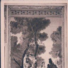 Postales: POSTAL TAPIS DE GOYA LA MAJA Y LOS EMBOSADOS - MONASTERIO DE SAN LORENZO ESCORIAL - ROISIN. Lote 179330526