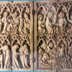 Postales: MADRID. MUSEO LÁZARO. DÍPTICO DE MARFIL. ESCUELA DE PARÍS. SIGLO XIV. NUEVA. Lote 179379455