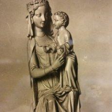 Postales: MADRID. MUSEO LÁZARO. VIRGEN SEDENTE, DE MARFIL. FINES DEL SIGLO XIII. NUEVA. Lote 179379662