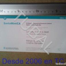 Postales: TUBAL SANTA MONICA EXPOSICION LA BELLESA COM A DESTÍ 1997 POSTAL TARJETA ENVÍO 70 CENT 2019 B05. Lote 180092658