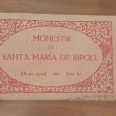 Postales: BLOC 13 POSTALES B/N MONESTIR DE SANTA MARIA DE RIPOLL. SERIE 4A. FOTOTIPIA THOMAS. Lote 180232343
