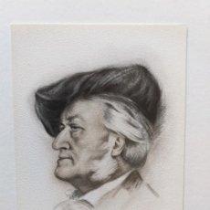 Postales: TARJETA POSTAL DEL MÚSICO WAGNER. DIBUJO DE BERNARDINO DE PANTORBA. 1945. Lote 180425535