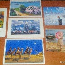 Postales: LOTE DE 15 TARJETAS DE LA ASOCIACION DE PINTORES CON LA BOCA Y CON EL PIE.. Lote 180477081