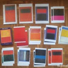 Postales: LOTE MARK ROTHKO 18 POSTALES + LIBRO + 3DOBLES, SIN USAR. Lote 180480698