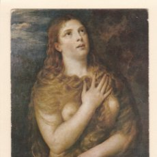 Postales: POSTAL CUADRO MAGDALENA PENITENTE. TIZZIANO. GALERIA PITTI. FLORENCIA (ITALIA). Lote 180512492