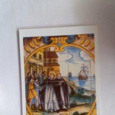 Postales: TARJETA POSTAL - MIRACLE DE LES NAUS DE BARCELONA - PANEL DE AZULEJOS DEL POUET DE SANT VICENT. Lote 180856957