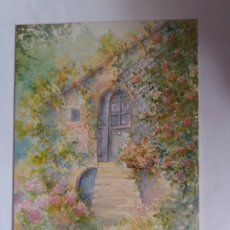 Postales: TARJETA POSTAL - BENEDICTE ROUSSELON - LA CASA DE LAS FLORES. Lote 180860523