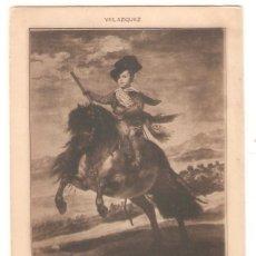 Postales: HAUSER Y MENET, NR. 511, PRINCIPE BALTASAR CARLOS, VELAZQUEZ, SIN DIVIDIR, SIN CIRCULAR. Lote 182102423