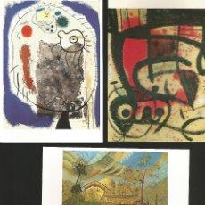 Postales: JOAN MIRÓ.9 POSTALES DE CUADROS DEL FAMOSO PINTOR. Lote 182846483