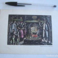 Postales: FELICITACIÓ XILOGRAFIA DE JOAN CASTELLS MARTÍ (SANTA COLOMA DE QUERALT, 1963).. Lote 184911630