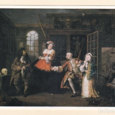 Postales: POSTAL WILLIAM HOGARTH. SERIE MARRIAGE À LA MODE: THE VISIT TO THE QUACK DOCTOR. NATIONAL GALLERY. Lote 186359190