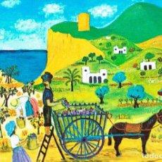 Postales: INGEBORG GAUGER, LA VENDIMIA (PINTURA NAIF). Lote 188388273