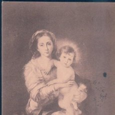 Postales: POSTAL FIRENZE - LA VERGINE COT FIGLIO - MURILLO. Lote 188735342