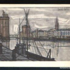 Postales: *BERNARD BUFFET - LA ROCHELLE. 1955* ED. F. HAZAN Nº 585. NUEVA.. Lote 189273861