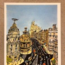 """Postales: JORGE ARRANZ """"GRAN VÍA"""". POSTAL SIN CIRCULAR SOMBRAS EDICIONES 1986, N° 54. MADRID.. Lote 190555047"""
