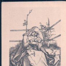 Postales: POSTAL DURER - DIE SAUGENDE MARIA - LA VIERGE ALLAITANT L'ENFANT - THE VIRGIN NURSING THE CHILD. Lote 190701490
