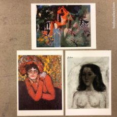 Postales: PABLO PICASSO. LOTE 3 POSTAL SIN CIRCULAR. CLOUDED TIGER PUBLISHING.. Lote 190708523