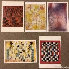 Postales: PAUL KLEE. LOTE 5 POSTAL SIN CIRCULAR. CLOUDED TIGER PUBLISHING.. Lote 190709947