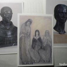 Postales: LOTE POSTALES ESCULTOR JULIO ANTONIO -MORA DE EBRO TARRAGONA . Lote 190783028