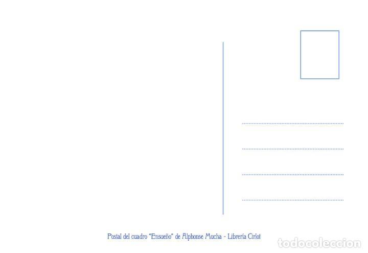 Postales: Postal del cuadro Ensueño, de Alphonse Mucha. Tema: Pintura, Modernismo, Art Noveau, Arte, Rêverie. - Foto 2 - 241011005