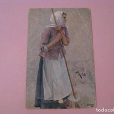 Postales: TUCK'S POST CARD. GERMAN PEASANT LIFE. OILETTE. SELLO DE LA TIENDA POSTALES ZAPATERO, VALLADOLID.. Lote 191504905