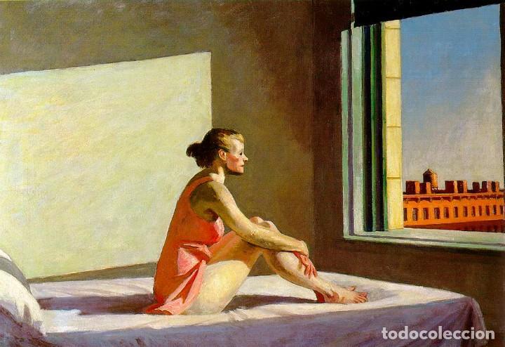POSTAL DEL CUADRO MORNING SUN, DE EDWARD HOPPER. TEMA: PINTURA, ARTE, SOL DE LA MAÑANA. (Postales - Postales Temáticas - Arte)
