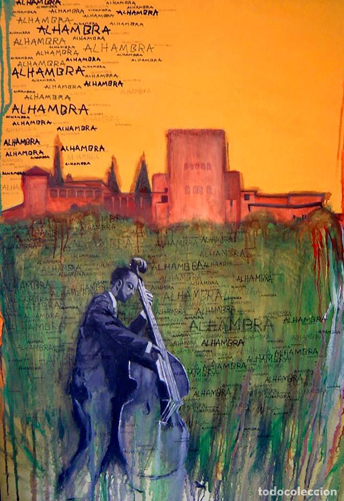 POSTAL DEL CUADRO ALHAMBRA JAZZ, DE JUAN ANTONIO CARMONA GARCÍA DEL REAL. TEMA: GRANADA, MÚSICA. (Postales - Postales Temáticas - Arte)