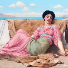 Postales: POSTAL DEL CUADRO THE QUIET PET, DE JOHN WILLIAM GODWARD. TEMA: PINTURA, ARTE.. Lote 228425500