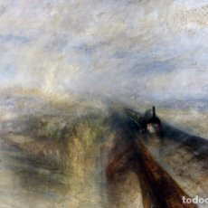 Postales: POSTAL DEL CUADRO RAIN, STEAM, AND SPEED. THE GREAT WESTERN RAILWAY DE JOSEPH MALLORD WILLIAM TURNER. Lote 255581365