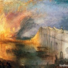 Postales: POSTAL DEL CUADRO THE BURNING OF THE HOUSES OF LORDS AND COMMONS, DE JOSEPH MALLORD WILLIAM TURNER.. Lote 277685233