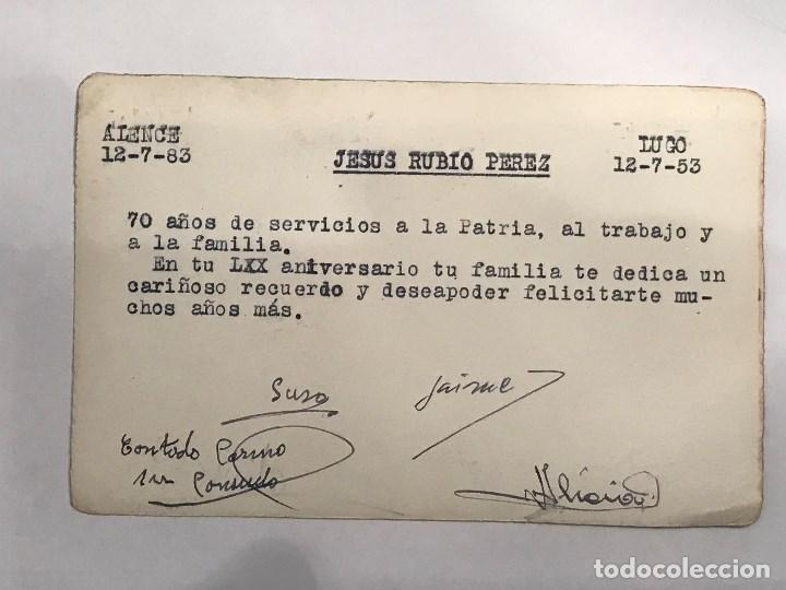 Postales: Última Cena Postal. MUEBLERIA AMERICANA LUGO 1953 - Foto 2 - 193630696