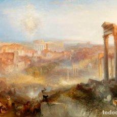 Postales: POSTAL DEL CUADRO MODERN ROME. CAMPO VACCINO, DE JOSEPH MALLORD WILLIAM TURNER. TEMA: PINTURA, ROMA.. Lote 255581380