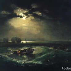 Postales: POSTAL DEL CUADRO FISHERMEN AT SEA, DE JOSEPH MALLORD WILLIAM TURNER. TEMA: PINTURA, MAR, NOCHE.. Lote 255581335