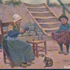 Postales: POSTAL HOLANDESA ILUSTRADA GERSTENHAUER - DUTCH PEASANT CHILDREN . Lote 193889342