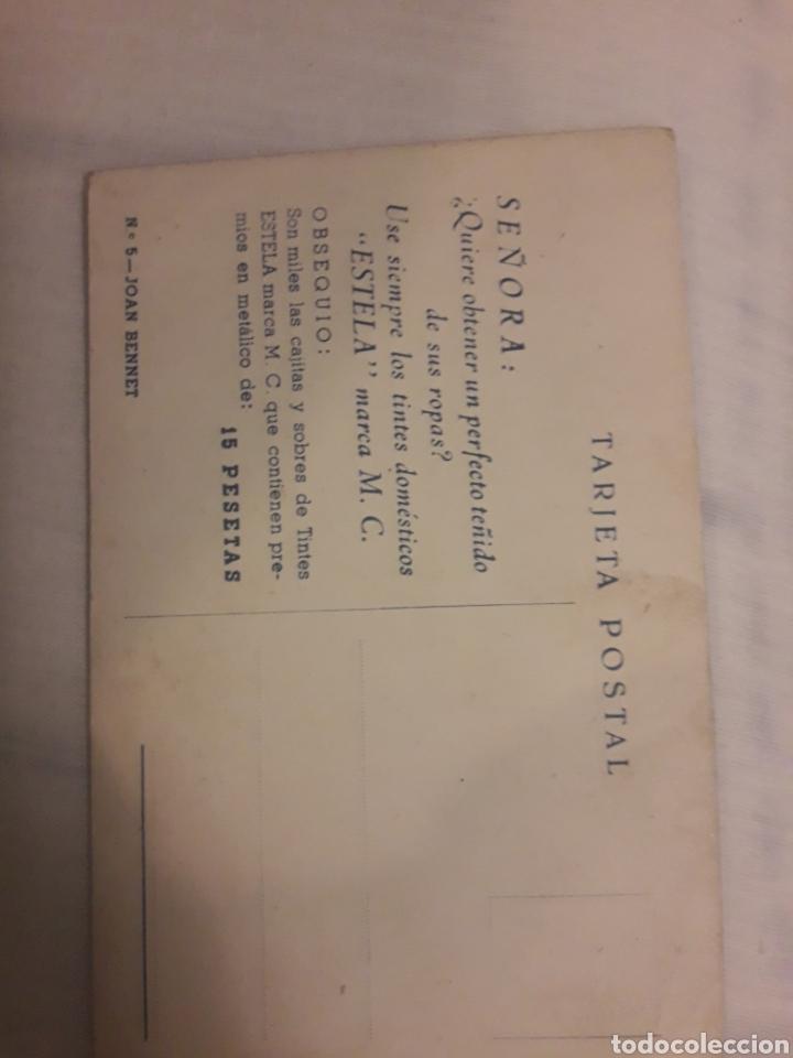 Postales: Postal antigua de Joan Bennet actriz - Foto 2 - 194237557