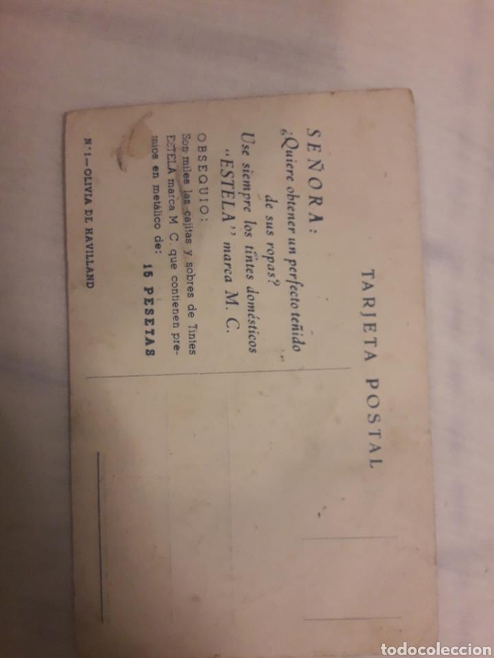 Postales: Postal antigua Olivia de Havilland - Foto 2 - 194238303