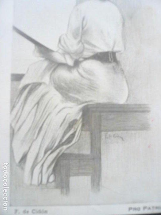 F. DE CIDÓN. POSTAL PRO-PATRIA. VÍCTIMAS DEL RIF. ORIGINAL. SIN CIRCULAR (Postales - Postales Temáticas - Arte)