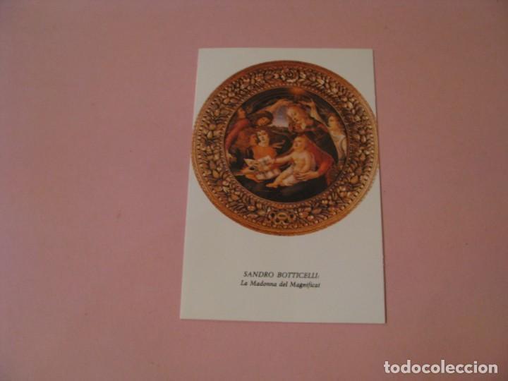POSTAL DIPTICA DE OBRA SANDRO BOTTICELLI. LA MADONNA DEL MAGNIFICAT. ED. ORTIZ X258 - B. 1979. (Postales - Postales Temáticas - Arte)