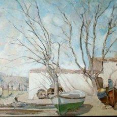 Postales: PINTURA: PAISAJE DE IGNACIO MALLOL. 18 MUSEO DE ARTE MODERNO (BARCELONA). ESCUDO DE ORO. NUEVA. COLO. Lote 194362763