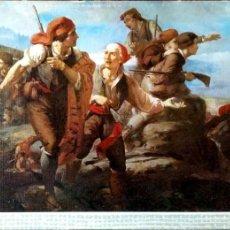Postales: PINTURA: EL SOMETÉN DEL BRUC DE RAMÓN MARTÍ ALSINA. 12 MUSEO DE ARTE MODERNO (BARCELONA). ESCUDO DE. Lote 194362770