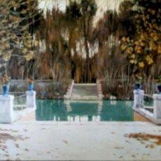 Postales: PINTURA: JARDINES DE ARANJUEZ DE SANTIAGO RUSIÑOL. 24 MUSEO DE ARTE MODERNO (BARCELONA). ESCUDO DE O. Lote 194362775