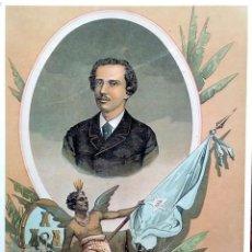 Postales: PINTURA: IGNACIO AGRAMONTE. LITOGRAFÍA DE F. GONZÁLEZ ROJAS. COLECCIÓN PARTICULAR ENRIQUE LANGARIKA.. Lote 194362777