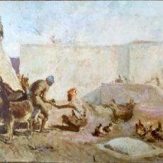 Postales: PINTURA: HERRADOR MARROQUÍ DE MARIANO FORTUNY. 20 MUSEO DE ARTE MODERNO (BARCELONA). ESCUDO DE ORO. . Lote 194362778