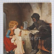 Postales: POSTAL - H. KAULBACH - DER SCHWARZE MANN - LA DE LA FOTO. Lote 194378785