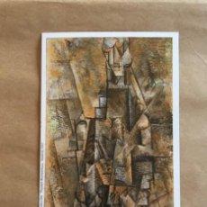 Postales: PICASSO. HOMBRE CON CLARINETE. MUSEO THYSSEN BORNEMISZA. 1997. Lote 194507886